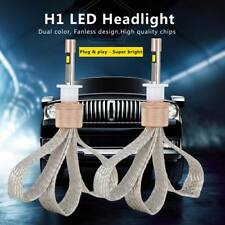 H1 80W Auto Car LED Headlight KIT High Power Replace Halogen Xenon 11000LM Pair