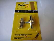 2x YALE KEYED ALIKE OPERATED DOOR BOLTS CYLINDER BRASS FINISH  - NEW