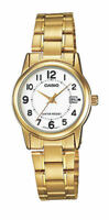 Casio LTPV002G-7B Womens GOLD Stainless Steel Watch Analog DATE Display NEW BOLD