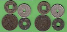 Asien China Japan Lot von vier Münzen darunter Kleinnominal China Cash 18 mm