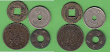 Asia china Japan Lot de cuatro monedas entre ellos kleinnominal china Cash 18 mm
