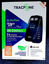 LG 441G (TracFone) Prepaid Flip Cell Phone New Box No Contract, Double Minutes!