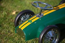 Ride on vintage toy metal car in British racing green - 'B Grade'