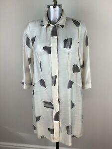 Picadilly Blouse Size M / 14 BNWT Beige Grey Tunic RRP £139 Now £62