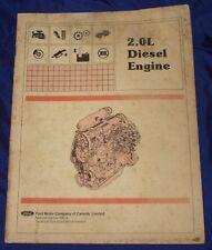 KH070 Ford Diesel Engine Service Shop Manual 2.0L