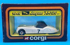 c1980 Corgi Toys 1949 7 Jaguar XK120 No 819 Blue Diecast Vehicle Car MIB