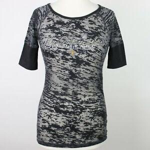 TOUCH Womens Burnout New Orleans Saints Shirt SMALL
