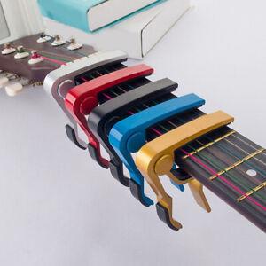 Aluminum Guitar Capo Trigger Spring Acoustic Electric Clamp Quick Change Release