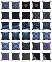 Dark Blue Throw Pillow Cases Cushion Covers Home Decor 8 Sizes Ambesonne