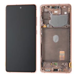 LCD Display Touch Screen Replacement+Orange Frame For Samsung Galaxy S20 FE G780