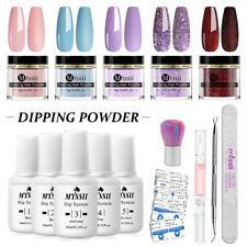10g Mtssii Dipping Nail Powder Pigment Glitter Dip Liquid NO UV Lamp Starter Kit