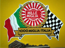 MILLE MIGLIA 1000 Flags & Scroll Classic Car STICKER Rally 1000 Rallye Race Mini