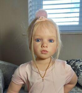 """!! Beautiful  realistic BLONDE 38"""" little girl doll ~  'Aloenka'"""