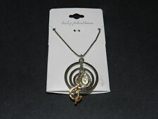 Baby Phat Mutli circles Bling Drop silver tone necklace NEW Fashion RV 24$