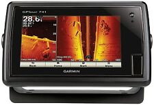 "New Garmin GPSmap 741 7"" Touchscreen Marine GPS Chartplotter w/ LakeVu HD Maps"