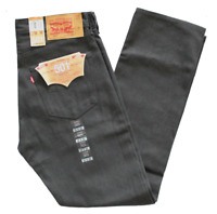 LEVIS SHRINK TO FIT 501 DENIM JEANS BUTTON FLY STRAIGHT LEG GRAY WHITE OAK 1893