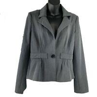"NANETTE LEPORE ""Star Bright"" Gray Tiered One Button Crop Blazer Size 8 *NWT"