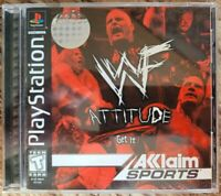 WWF Attitude: Get It (Sony PlayStation 1, 1999) CIB COMPLETE TESTED