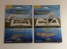 Lot 2 Metal Earth Book Sculpture Kit Moby Dick & The Old Man and The Sea 3D NEW