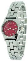 Reflex Ladies Analogue Pink Dial Silver Tone Metal Bracelet Strap Watch LB104
