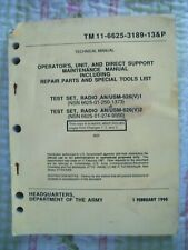 Tm11-6625-3189-13&P Operator's, Unit, & Direct Support Mtc. Manual An/Usm-626(V)