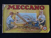 CATALOGUE MECCANO 1949 instruction notice montage modélisme jouet catalog