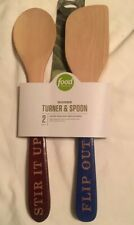 Food Network 2 Pc Wooden Turner & Spoon Set