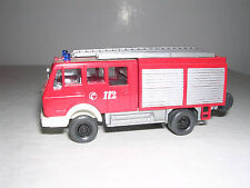 Wiking #616 Mercedes Lf16 Fire Truck - Red & White - Imported 1985
