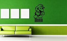 Wall Stickers Vinyl Decal Video Game Nursery Mario Cartoon For Kids ig1693
