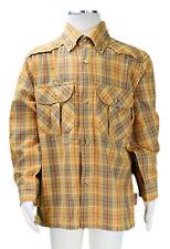 JACADI Boy's Alysson Cumin Plaid Button Down LS Shirt Size 4 Years NWT $42
