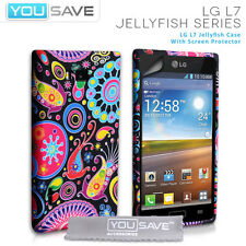 Accessories For The LG Optimus L7 P700 Silicone Jellyfish Case Cover & Film UK