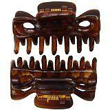 Caravan Mini Traditional Flair Hair Claws In Tortoise Shell Pair