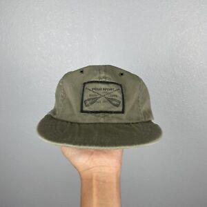 Vtg 90s Polo Sport Ralph Lauren Sportsman Oar Hat Made In USA Olive Green Size S
