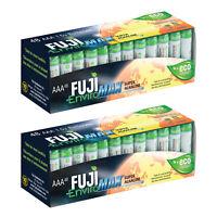 96 Fuji EnviroMAX Super Alkaline AAA Eco Friendly Batteries