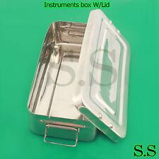 Instruments box W/Lid 16X8X3