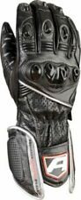 Akito Sports Rider Motorcycle Motorbike Thermal Leather Gloves - Black/Silver