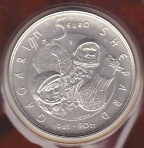 """SAN MARINO 5 euro agento 2011 """"50° anniversario dell' Uomo nello Spazio """" FDC"""