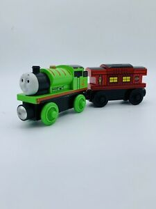Thomas & Friends Percy Wooden Railway Train Engine Musical Sodor Line Caboose