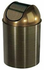 Umbra Mezzo Swing-Top Waste 3PC Trash Can 2.5-Gallon (9 L) GOLD/BRONZE