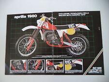 advertising Pubblicità 1980 MOTO APRILIA RC 125