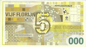 Test note - JEZ-103, 5 Florijn,  foil test, Enschede ceased banknote production