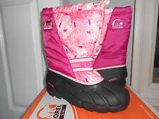 Girls Sorel Winter Snow Boots Lollipop Conch Removable Liners Big Girls Sz 6
