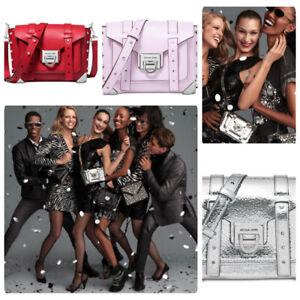 Michael Kors Manhattan Leather Small Messenger Crossbody Purse Bag