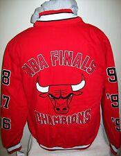 Chicago Bulls 6 tiempo finales de la NBA campeonato del mundo de algodón Chaqueta XL 2X