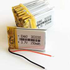 10 pcs 3.7V 150mAh 302030 Lipo Polymer Battery Rechargeable For Mp3 Bluetooth