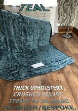1M TEAL BLUE TEXTURED UPHOLSTERY VELVET FABRIC. CURTAIN THERMAL HEAVY CUSHION