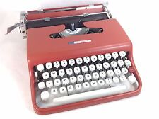 WORKING Vintage 1960's Portable RED Sears Courier Typewriter, Lettera 22