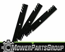 """(3) Toothed Blades Fits John Deere with 60"""" 7 Iron deck M128485 M144196"""