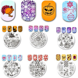 Halloween Born Pretty Nail Art Stamping Plates Christmas lebration Templates