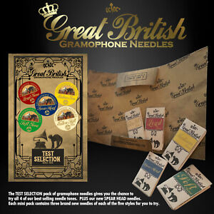 GRAMOPHONE NEEDLE SELECTION TEST PACK (OCDC TRIAL SAMPLES GREAT BRITISH UK NEW)